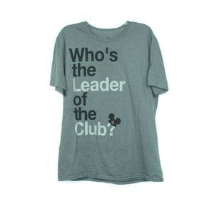 "Disney Shirt Gray ""Whos the Leader of the Club?"""